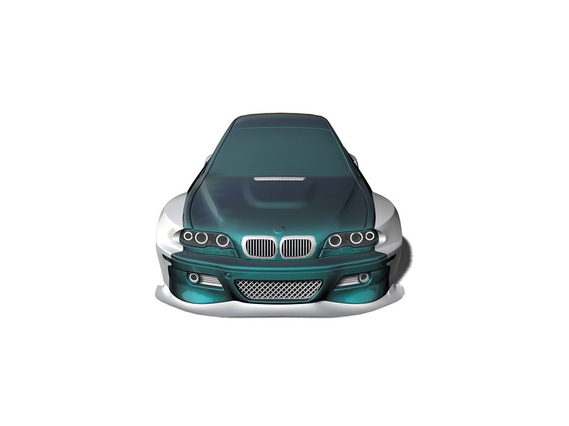 Rc Arlos RC-E46M3-WBK  - Wide Body Kit for BMW M3 (E46)