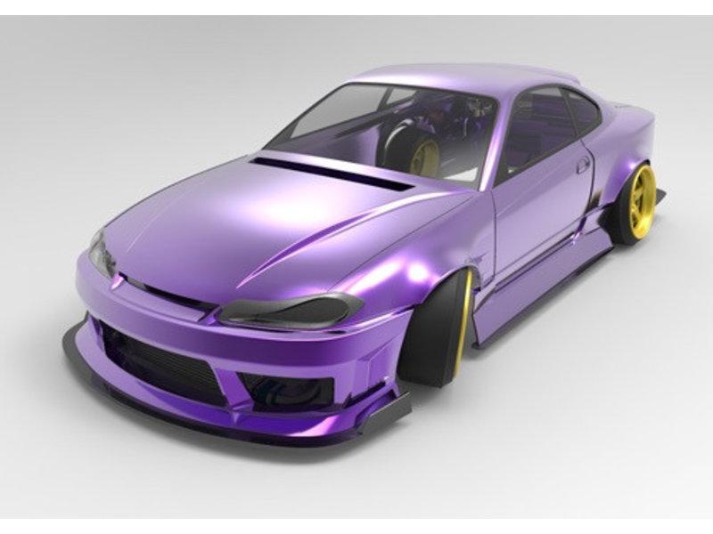 Addiction RC AD-PB8 - NISSAN Silvia S15 ORIGIN Labo (Raijin Nakamura Naoki Model) Body
