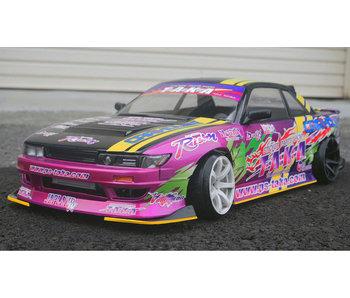 Addiction RC Nissan Silvia S13 D-MAX (Fujio Model) Body LIMITED SET + Aero Parts + Replica Sticker