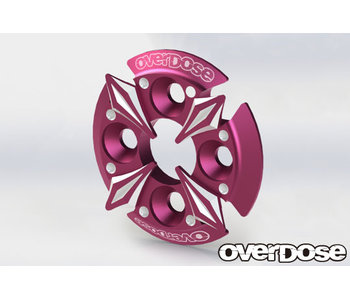 Overdose Spur Gear Support Plate Type-5 / Pink
