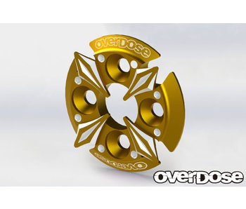 Overdose Spur Gear Support Plate Type-5 / Gold