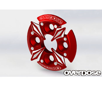 Overdose Spur Gear Support Plate Type-5 / Red