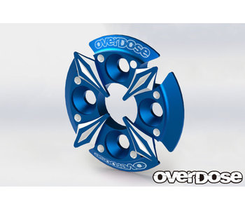 Overdose Spur Gear Support Plate Type-5 / Blue