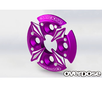 Overdose Spur Gear Support Plate Type-5 / Purple