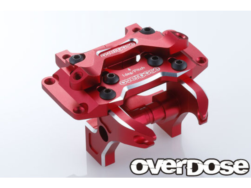 Overdose Aluminum Front Bulkhead Type-2 for Vacula II, GALM / Color: Red