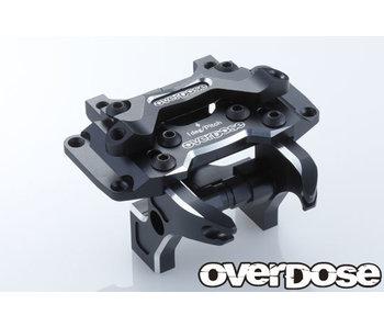 Overdose Alum. Front Bulkhead Type-2 for Vacula II, GALM / Black