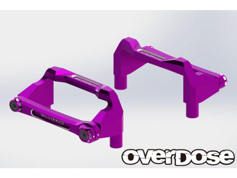 Overdose Aluminum Battery Holder Set for OD / Color: Purple