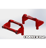 Overdose Aluminum Battery Holder Set for OD / Color: Red