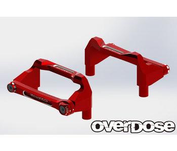 Overdose Alum. Battery Holder Set for OD / Red