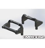 Overdose Aluminum Battery Holder Set for OD / Color: Black