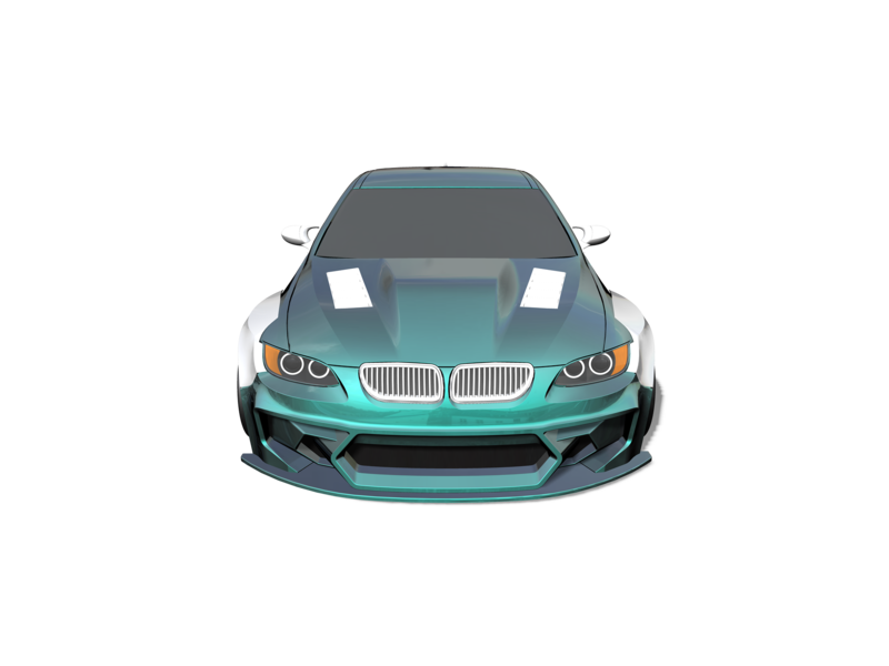 Rc Arlos RC-M3E92HGK-WBK - HGK Wide Body Kit for BMW M3 (E92)