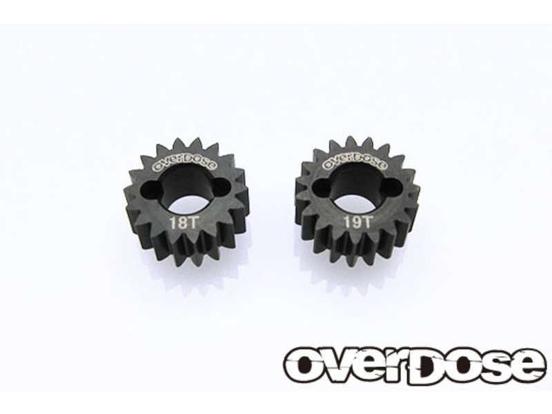 Overdose Counter Gear Super Low Gear Set (18T-19T) for GALM Gear Drive Set, XEX)