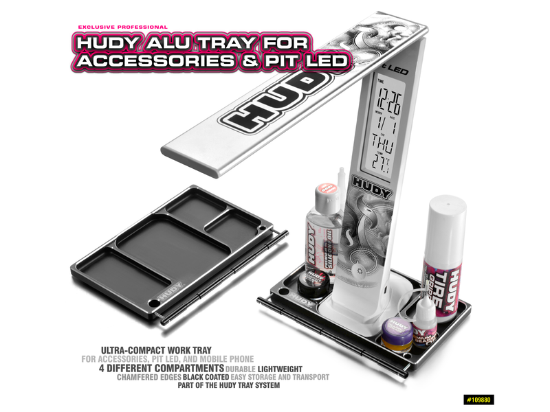 Hudy H109880 - Aluminium Tray for Accessories & Pit LED