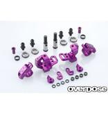 Overdose Adjustable Aluminium Knuckle Set Type-2 for RWD / Color: Purple