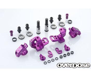 Overdose Adj. Alum. Knuckle Set Type-2 for RWD / Purple
