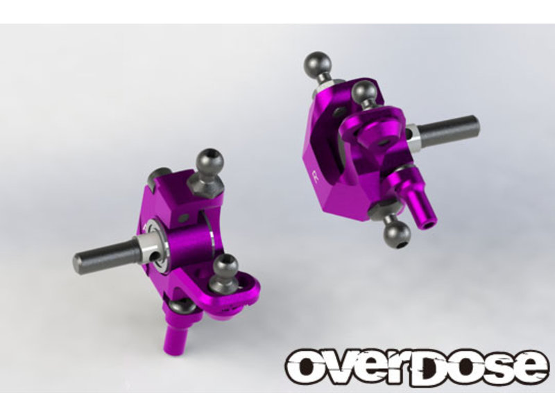 Overdose Adjustable Aluminium Knuckle Set Type-2 for RWD / Color: Black
