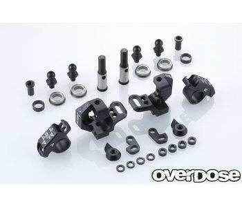 Overdose Adj. Alum. Knuckle Set Type-2 for RWD / Black