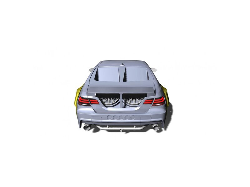 Rc Arlos RC-M3E92HGK-RWO - HGK Rear Window & Trunk Outlets for BMW M3 (E92)