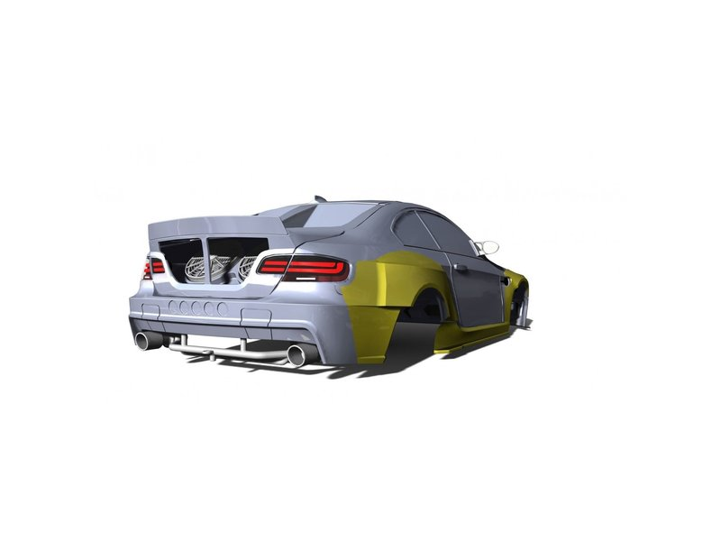 Rc Arlos RC-M3E92HGK-FA - HGK Fans for BMW M3 (E92)
