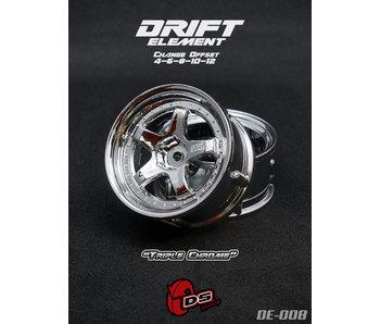 DS Racing Drift Element Wheel - Adj. Offset (2) / Triple Chrome