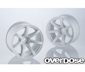 Overdose R-SPEC Work Emotion T7R / White / 7mm (2)