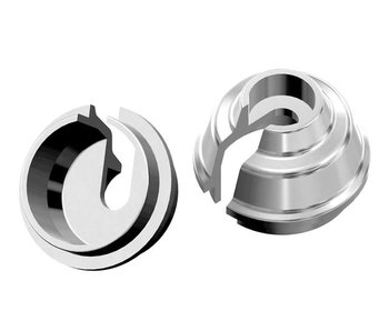 WRAP-UP Next Rate-Up Spring Retainer 8mm - Silver (2pcs)