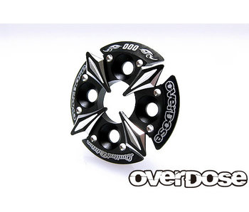 Overdose Spur Gear Support Plate Type-5 / Black - LIMITED EDITION