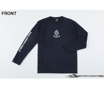 Overdose Weld T-shirt with Long Sleeve / Navy Blue / XL