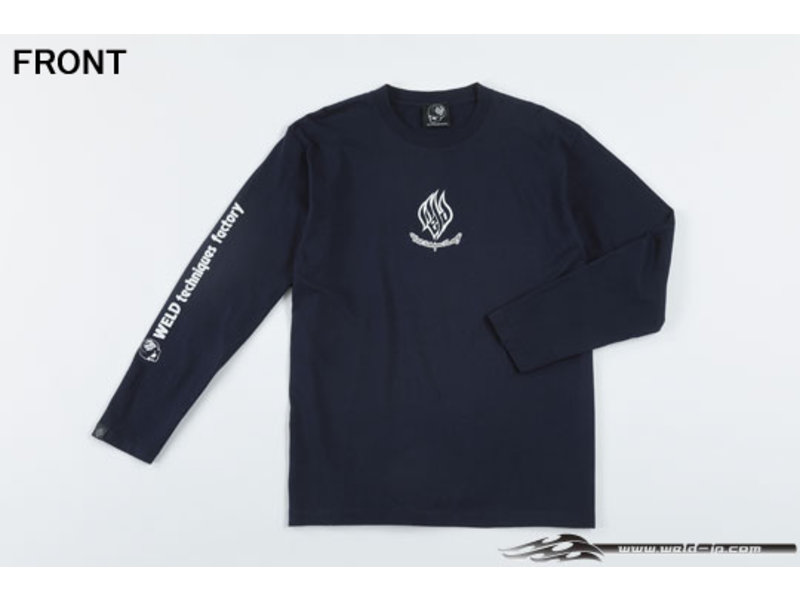 Overdose Weld T-shirt with Long Sleeve / Color: Navy Blue / Size: XL