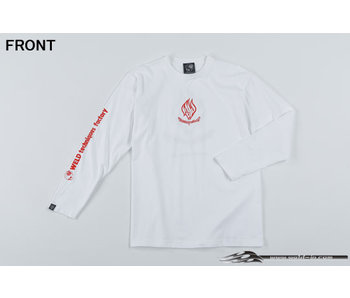 Overdose Weld T-shirt with Long Sleeve / White / L