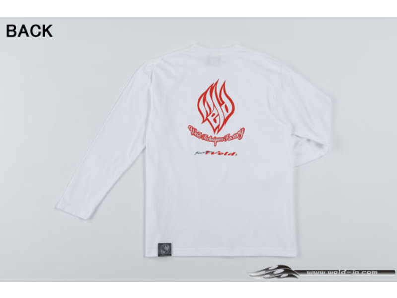 Overdose Weld T-shirt with Long Sleeve / Color: White / Size: L
