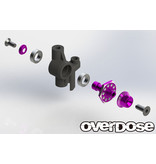 Overdose Aluminum One Piece Axle Shaft 6mm for OD (RWD Front) / Color: Purple