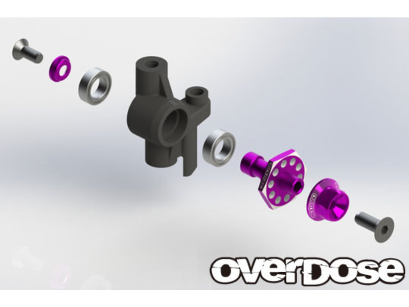 Overdose Aluminum One Piece Axle Shaft 4mm for OD (RWD Front) / Color: Black
