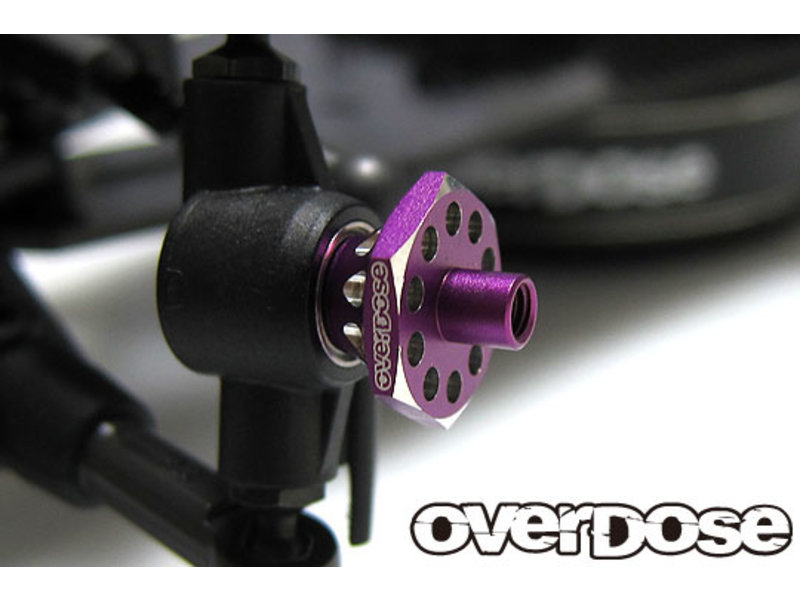 Overdose Aluminum One Piece Axle Shaft 4mm for OD (RWD Front) / Color: Red