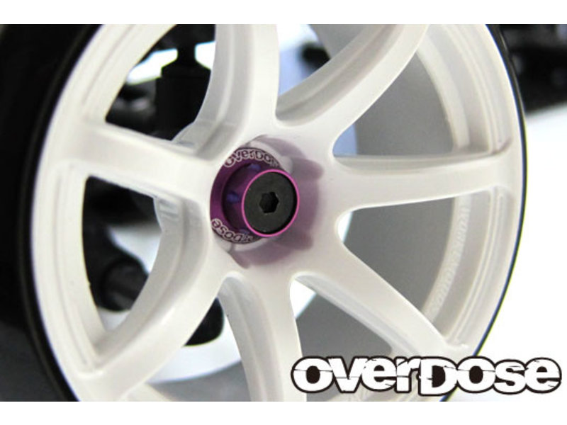 Overdose Aluminum One Piece Axle Shaft 4mm for OD (RWD Front) / Color: Purple