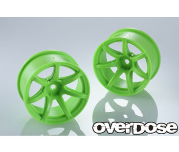 Overdose R-SPEC Work Emotion T7R / Fluor Green / 7mm (2)