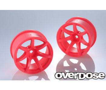 Overdose R-SPEC Work Emotion T7R / Fluor Pink / 7mm (2)
