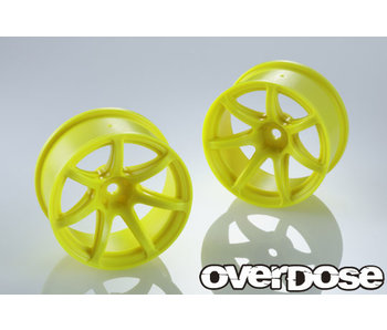 Overdose R-SPEC Work Emotion T7R / Fluor Yellow / 7mm (2)