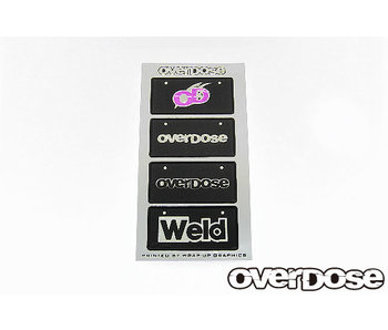 Overdose WELD/OD 3D Number Plate Sticker
