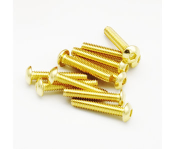 RC OMG Golden Screw Button Head M3 x 16mm (20pcs)
