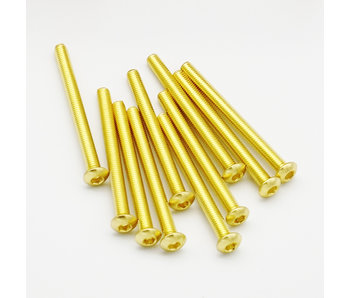 RC OMG Golden Screw Button Head M3 x 35mm (10pcs)