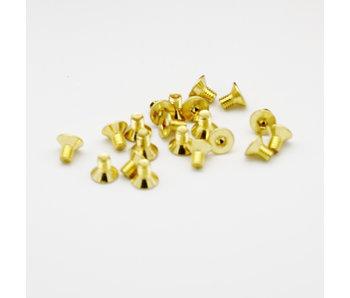 RC OMG Golden Screw Flat Head M3 x 4mm (20pcs)
