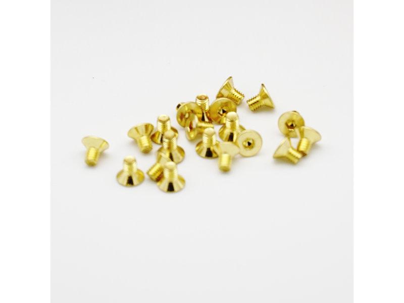 RC OMG TG-GS02/04 - Golden Screw Flat Head M3 x 4mm (20pcs)