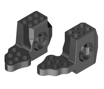 WRAP-UP Next GX RWD Front Knuckle Ver.4 Super Lightweight - Black