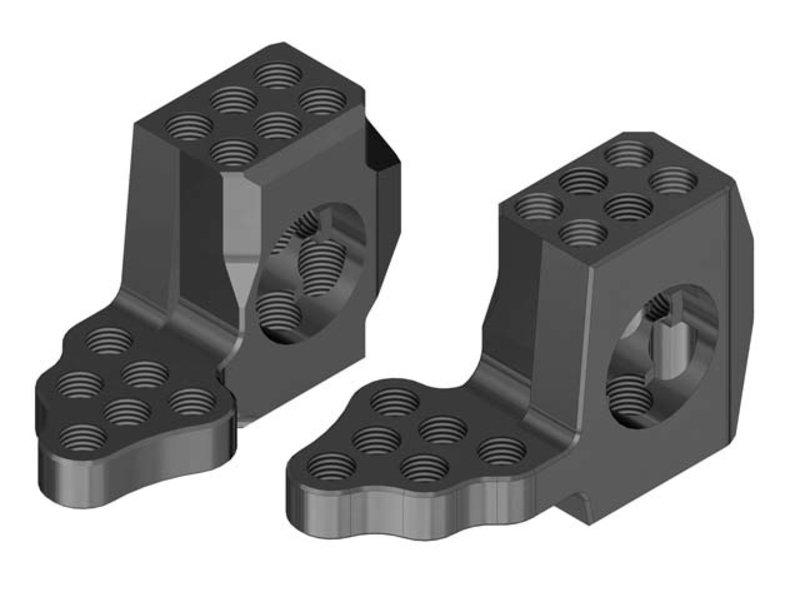 WRAP-UP Next 0518-FD - GX RWD Front Knuckle Ver.4 Super Lightweight - Black