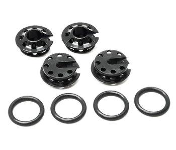 WRAP-UP Next Aluminum Spring Hold Retainer - Black (4pcs)