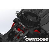 Overdose Aluminum Cooling Fan Mount for Vacula II, GALM / Color: Red
