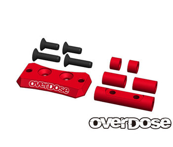 Overdose Alum. Cooling Fan Mount for Vacula II, GALM / Red
