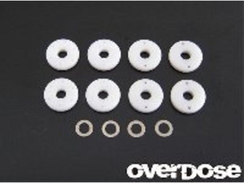 Overdose PTFE Shock Piston Set (φ0.6x2/φ0.7x2/φ0.8x2/Blank)