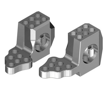 WRAP-UP Next GX RWD Front Knuckle Ver.4 Super Lightweight - Silver